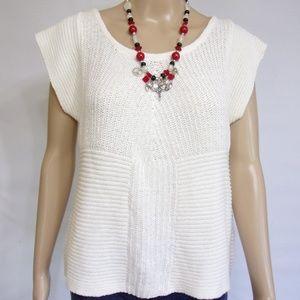 Michael Stars Sleeveless Knit Top NWT Size S White